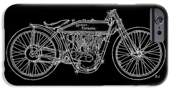 Transportation Pastels iPhone Cases - Harley Davidson 11K 1915 iPhone Case by Pablo Franchi