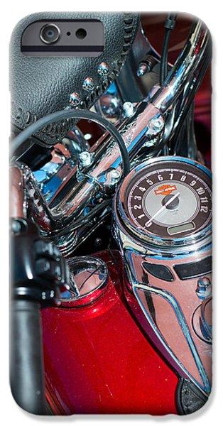 Harley Davidson Photographs iPhone Cases - Harley Davidson Motorcycles iPhone Case by Rospotte Photography