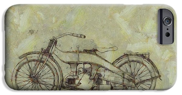 Mechanics Paintings iPhone Cases - Harley Davidson Patent iPhone Case by Dan Sproul