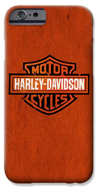 Iphone iPhone Cases - Harley-Davidson Phone Case iPhone Case by Mark Rogan