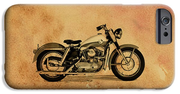 Glides iPhone Cases - Harley Davidson XL Sportster 1957 iPhone Case by Mark Rogan