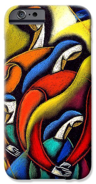Bonding Paintings iPhone Cases - Harmony iPhone Case by Leon Zernitsky