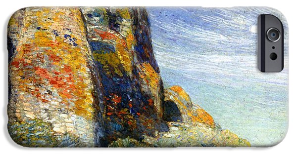 Childe iPhone Cases - Harney Desert iPhone Case by Childe Hassam