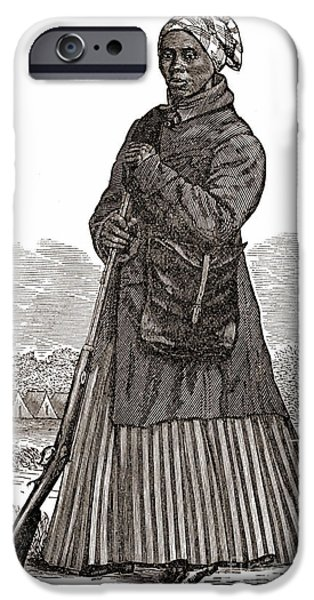 Antislavery iPhone Cases - Harriet Tubman, American Abolitionist iPhone Case by Photo Researchers