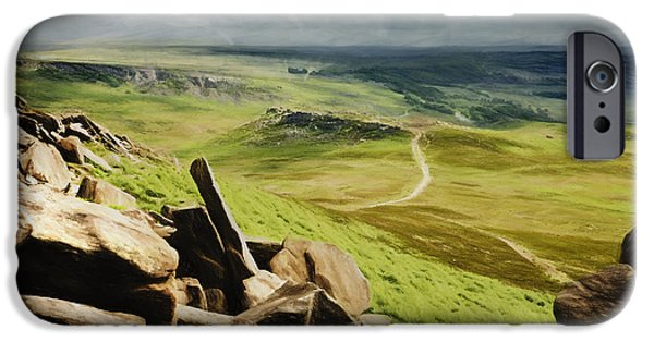 Wark iPhone Cases - Hathersage Moor iPhone Case by Julie Woodhouse