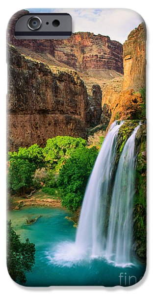 Grand Canyon iPhone Cases - Havasu Canyon iPhone Case by Inge Johnsson