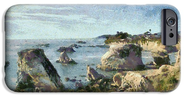Nature Scene iPhone Cases - Hazy Lazy Day Pismo Beach California iPhone Case by Barbara Snyder