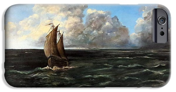 Boat iPhone Cases - Heading for Shore iPhone Case by Lee Piper