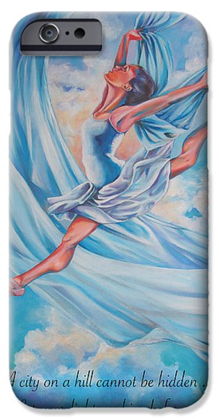 Ballerina Drawings iPhone Cases - Heavenly Dance iPhone Case by Tamer and Cindy Elsharouni