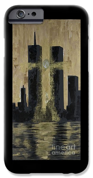 Best Sellers -  - Twin Towers Nyc iPhone Cases - Held Before 9-11 iPhone Case by Renee Nolan-Riley