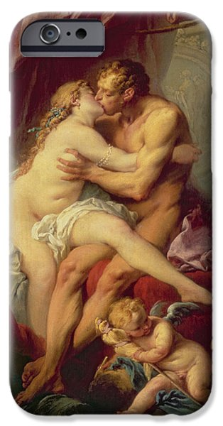 Cherub iPhone Cases - Hercules and Omphale iPhone Case by Francois Boucher