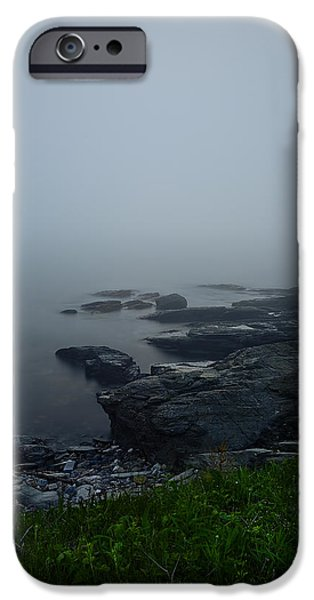 New England Landscape iPhone Cases - Hidden Glow iPhone Case by Lourry Legarde