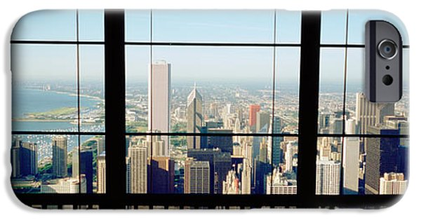Interior Scene iPhone Cases - High Angle View Of A City As Seen iPhone Case by Panoramic Images
