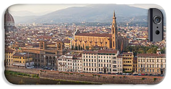 Michelangelo iPhone Cases - High Angle View Of The City iPhone Case by Panoramic Images