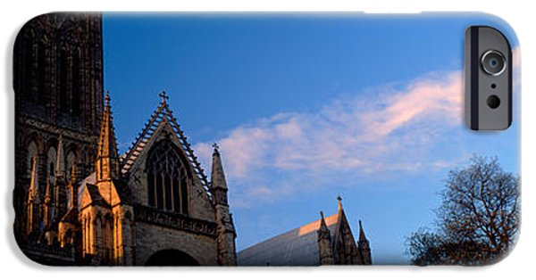 Lincoln iPhone Cases - High Section View Of A Cathedral iPhone Case by Panoramic Images