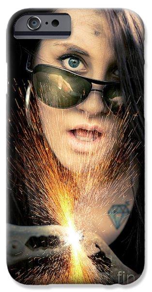 Sparking iPhone Cases - High Voltage iPhone Case by Ryan Jorgensen