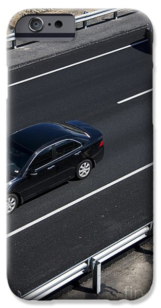 Asphalt iPhone Cases - Highway Scene iPhone Case by Ryan Jorgensen