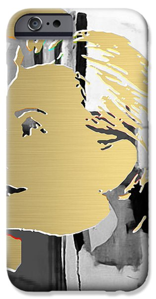Hillary Clinton Gold Series iPhone Case by Marvin Blaine