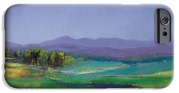 Mountain Pastels iPhone Cases - Hills in Bloom iPhone Case by David Patterson