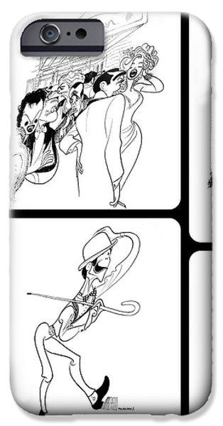 Natasha Marco iPhone Cases - Hirschfelds Drawings iPhone Case by Natasha Marco