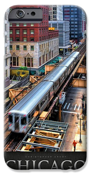 Sears Tower Paintings iPhone Cases - Historic Chicago El Train Poster iPhone Case by Christopher Arndt