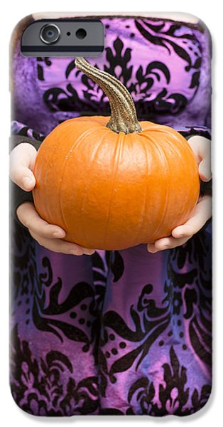 Jack O Lantern iPhone Cases - Holding Pumpkin iPhone Case by Amanda And Christopher Elwell