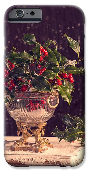 Berry iPhone Cases - Holly And Berries iPhone Case by Amanda And Christopher Elwell