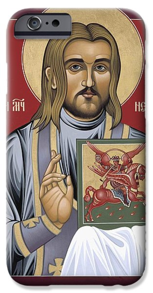 New Martyr iPhone Cases - Holy New Martyr Nestor Savchuk 069 iPhone Case by William Hart McNichols