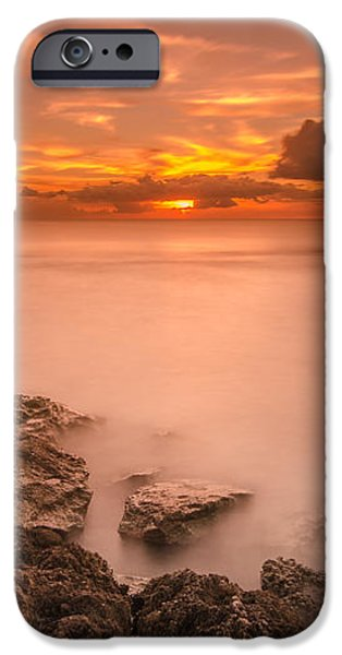 Honolulu sunset iPhone Case by Tin Lung Chao
