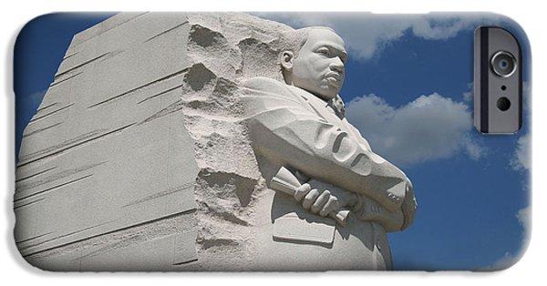 Cora Wandel iPhone Cases - Honoring Martin Luther King iPhone Case by Cora Wandel