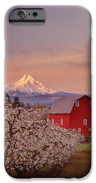 Hood River Sunrise iPhone Case by Darren  White