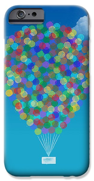 Hot Air Balloon iPhone Cases - Hot air balloon iPhone Case by Aged Pixel