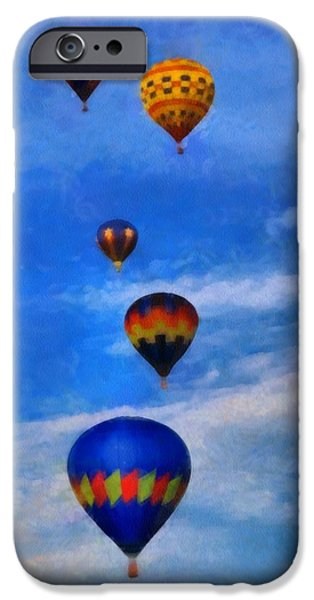 Hot Air Balloon iPhone Cases - Hot Air Balloons iPhone Case by Dan Sproul