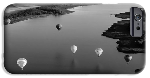 Shore Excursion iPhone Cases - Hot Air Balloons over France iPhone Case by Mountain Dreams