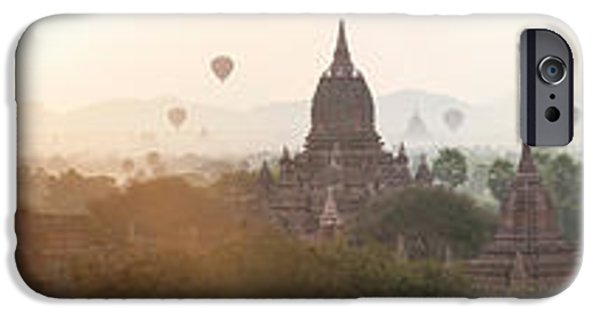 Hot Air Balloon iPhone Cases - Hot Air Balloons Rise Above The Ancient iPhone Case by Panoramic Images