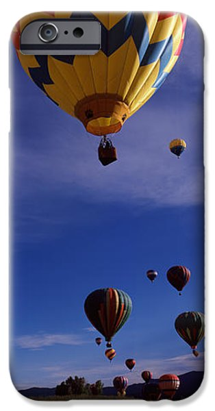 Hot Air Balloon iPhone Cases - Hot Air Balloons Rising, Hot Air iPhone Case by Panoramic Images