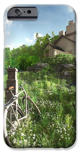 Lake House iPhone Cases - House on the Hill iPhone Case by Cynthia Decker