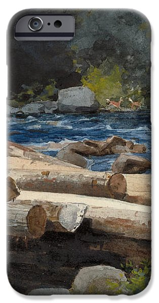 Hudson River iPhone Case by Winslow Homer