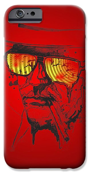 Normal iPhone Cases - Hunter S. Thompson iPhone Case by Pop Culture Prophet
