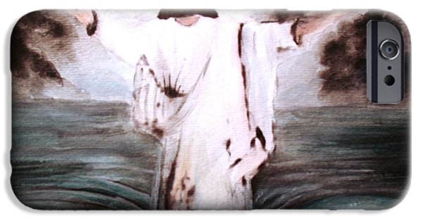 Jesus Walking On Water iPhone Cases - I Am iPhone Case by Hazel Holland