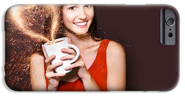 Advertise iPhone Cases - I Love Hot Coffee iPhone Case by Ryan Jorgensen