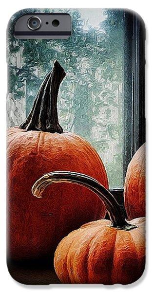 Natasha Marco iPhone Cases - I Love Pumpkins iPhone Case by Natasha Marco