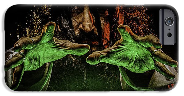 Cast A Spell iPhone Cases - I Put A Spell On You iPhone Case by Mark Rodriguez aka Godriguez