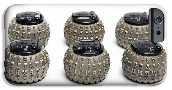 Component iPhone Cases - Ibm Selectric Typeballs, 1970s iPhone Case by Victor de Schwanberg