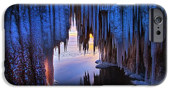 Chicago iPhone Cases - Ice Cave iPhone Case by Phil Koch