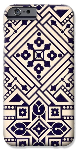 Design Tapestries - Textiles iPhone Cases - Illustration from Studies in Design iPhone Case by Christopher Dresser
