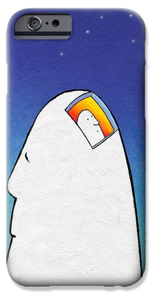 Thinking iPhone Cases - Imagination, Conceptual Artwork iPhone Case by David Gifford