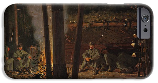 Yorktown iPhone Cases - In Front Of Yorktown iPhone Case by Winslow Homer