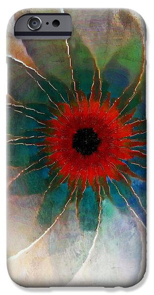 Floral Digital Art Digital Art Digital Art iPhone Cases - In Glass iPhone Case by Amanda Moore