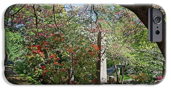 Cora Wandel iPhone Cases - In Oak Hill Cemetery iPhone Case by Cora Wandel
